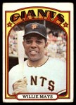 1972 Topps #49  Willie Mays  Front Thumbnail