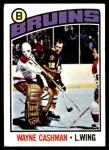 1976 Topps #165  Wayne Cashman  Front Thumbnail