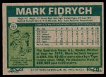 1977 Topps #265  Mark Fidrych  Back Thumbnail