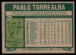 1977 Topps #499  Pablo Torrealba  Back Thumbnail