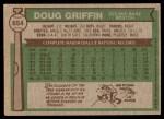 1976 Topps #654  Doug Griffin  Back Thumbnail