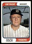 1974 Topps #578  Ralph Houk  Front Thumbnail