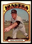 1972 Topps #573  Fritz Peterson  Front Thumbnail