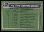 1976 Topps #216   Lightning Team Back Thumbnail