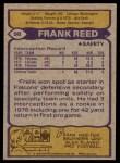 1979 Topps #98  Frank Reed  Back Thumbnail