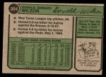 1974 Topps #304  Don Wilson  Back Thumbnail