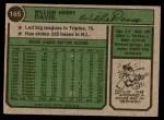 1974 Topps #165  Willie Davis  Back Thumbnail