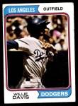 1974 Topps #165  Willie Davis  Front Thumbnail