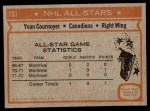 1972 Topps #131  Yvan Cournoyer  Back Thumbnail