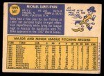 1970 Topps #591  Mike Ryan  Back Thumbnail