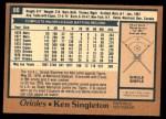 1978 O-Pee-Chee #80  Ken Singleton  Back Thumbnail