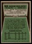 1975 Topps #108  Norm Bulaich  Back Thumbnail