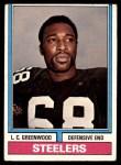 1974 Topps #496  L.C. Greenwood  Front Thumbnail