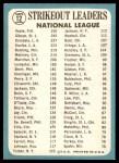 1965 Topps #12   -   Bob Veale / Don Drysdale / Bob Gibson NL Strikeout Leaders Back Thumbnail