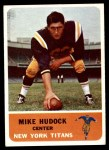 1962 Fleer #61  Mike Hudock  Front Thumbnail