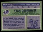 1976 Topps #30  Yvan Cournoyer  Back Thumbnail
