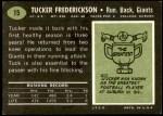 1969 Topps #15  Tucker Frederickson  Back Thumbnail
