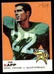 1969 Topps #35  Joe Kapp  Front Thumbnail