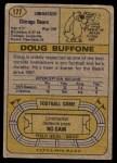1974 Topps #177  Doug Buffone  Back Thumbnail