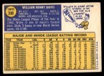 1970 Topps #390  Willie Davis  Back Thumbnail
