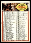 1972 Topps #29   Checklist 1 Front Thumbnail