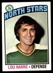 1976 Topps #173  Lou Nanne  Front Thumbnail