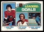 1976 Topps #1   -  Leach / La Fleur / Larouche Goals Leaders Front Thumbnail