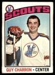 1976 Topps #186  Guy Charron  Front Thumbnail