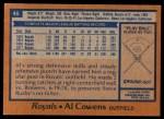 1978 Topps #46  Al Cowens  Back Thumbnail