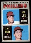 1970 Topps #56   -  Joe Lis / Scott Reid Phillies Rookies Front Thumbnail