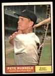 1961 Topps #210  Pete Runnels  Front Thumbnail
