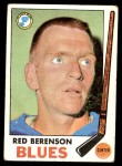 1969 Topps #20  Red Berenson  Front Thumbnail