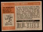 1972 Topps #34  Rick Smith  Back Thumbnail