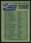 1976 Topps #144   Flyers Team Back Thumbnail