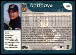 2001 Topps #181  Francisco Cordova  Back Thumbnail
