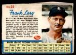 1962 Post #22  Frank Lary   Front Thumbnail