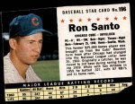 1961 Post #196 BOX Ron Santo   Front Thumbnail