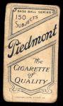 1909 T206  Art Devlin  Back Thumbnail