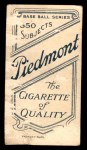 1909 T206  Ted Easterly  Back Thumbnail