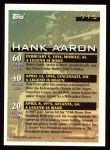 1994 Topps #715  Hank Aaron  Back Thumbnail