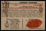 1953 Bowman #37  George Connor  Back Thumbnail