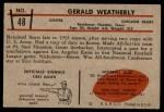 1953 Bowman #48  Gerald Weatherly  Back Thumbnail