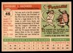 1955 Topps #46  Ted Kazanski  Back Thumbnail