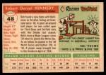 1955 Topps #48  Bob Kennedy  Back Thumbnail
