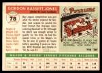 1955 Topps #78  Gordon Jones  Back Thumbnail