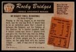 1955 Bowman #136  Rocky Bridges  Back Thumbnail