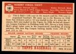 1952 Topps #181 CRM Bob Swift  Back Thumbnail