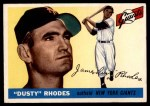 1955 Topps #1  Dusty Rhodes  Front Thumbnail