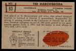 1953 Bowman #93  Ted Marchibroda  Back Thumbnail