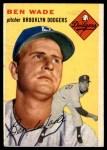 1954 Topps #126  Ben Wade  Front Thumbnail